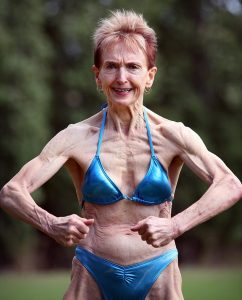 75 Year-Old Bodybuilding Granny Reveals Strict Nude Food