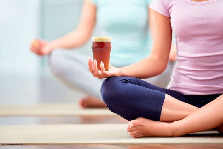 Bottoms Up: Everything You Need to Know about Beer Yoga